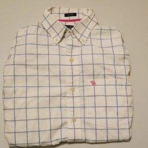 Abercrombie & Fitch Blue White Cotton M Shirt plai